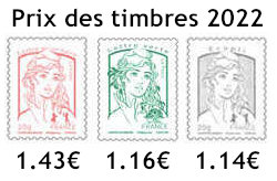 Prix du timbre 2022
